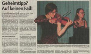 Konzert 04.06.16 Artikel